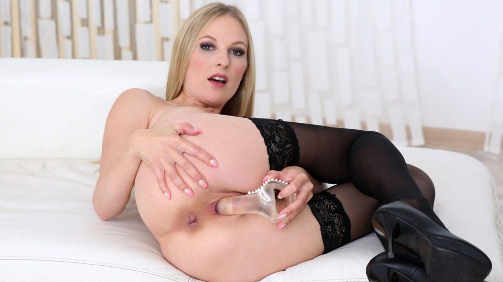 Privates Dildo Sex Foto eines blonden Luders aus dem gratis Erotikchat
